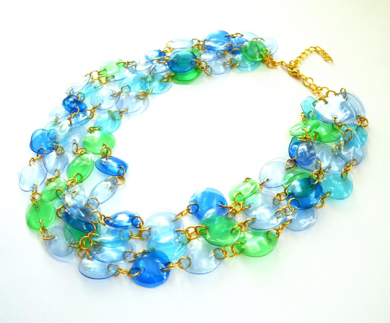 Statement Necklace Handmade Of Recycled Plastic Bottles In ...